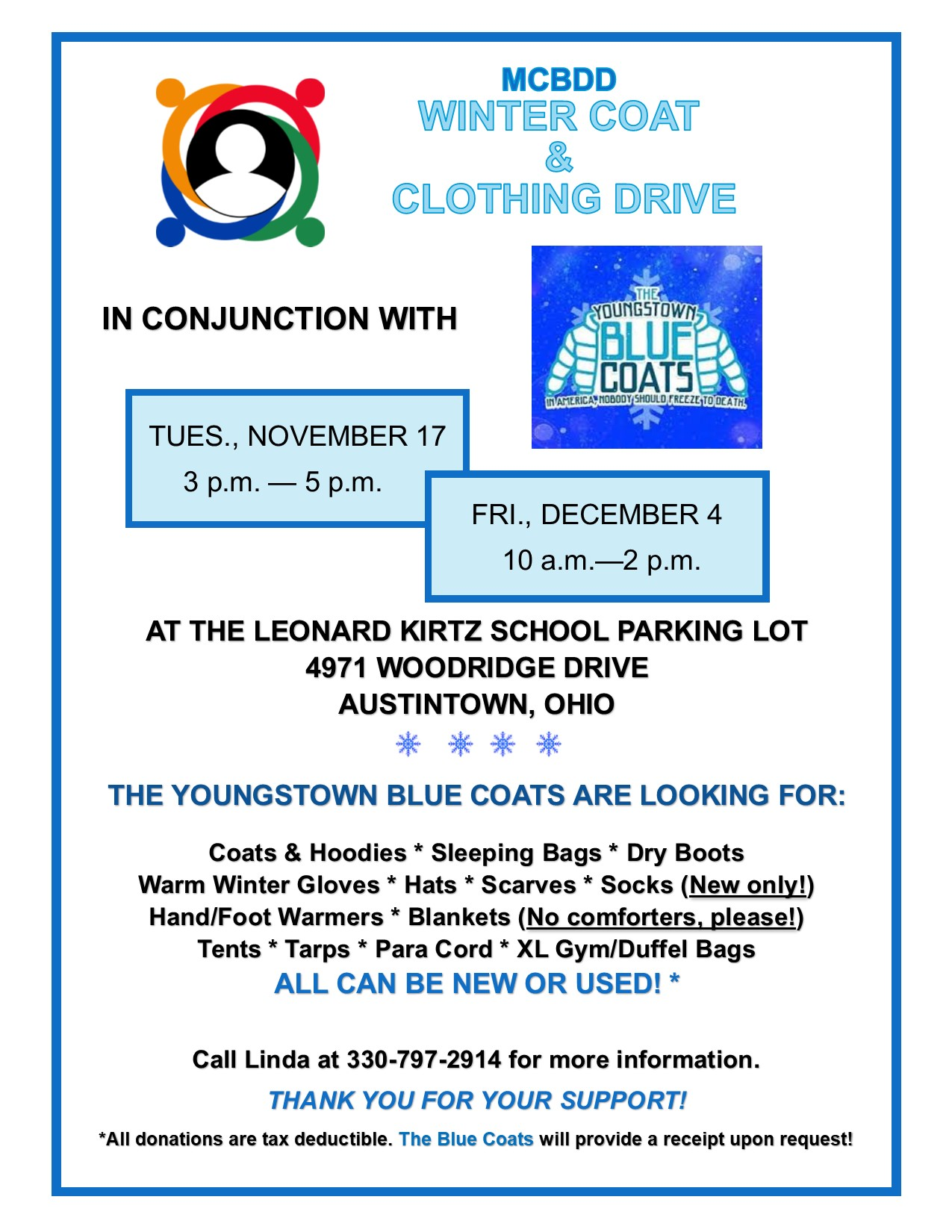 Winter Coat and Clothing Drive