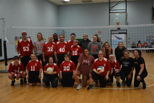 YSU Women's Volleyball team takes on the Special Olympics volleyball